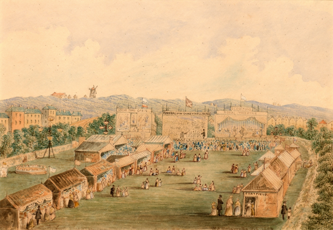 The Annual Fair, held On The Level by William Alfred Delamotte. 1853